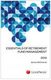 Essentials of Retirement Fund Management 2016 cover