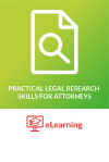 eLearning: Practical Legal Research Skills for Attorneys cover