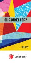 OHS Directory 2018/2019 cover