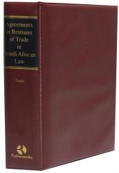 Agreements in Restraint of Trade in South African Law cover
