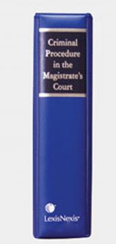 Criminal Procedure in the Magistrate's Court cover