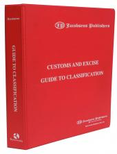 Jacobsens Customs Tariff Guide to Classification cover
