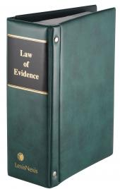Law of Evidence cover