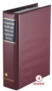 Occupational Health and Safety Act Legislation Service cover