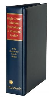High Court Motion Procedure: A Practical Guide cover