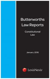 Butterworths Constitutional Law Reports 2016/2017 cover