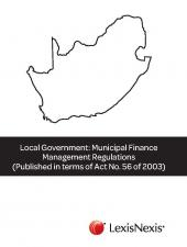 Local Government Municipal Finance Management Regulations (Published in terms of Act 56 of 2003) cover