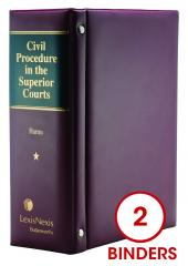 Civil Procedure in the Superior Courts cover