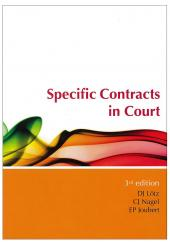 Specific Contracts in Court cover