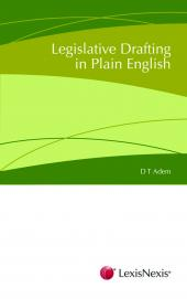 Legislative Drafting in Plain English cover