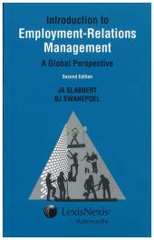 Introduction to Employment-Relations Management: A Global Perspective cover