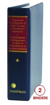 Consolidated Chief Registrar of Deeds Circulars and Conference Resolutions / Gekonsolideerde Hoofregistrateur van Aktes se Omsendbriewe en Konferensiebesluite cover