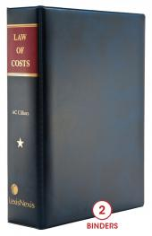 Law of Costs cover
