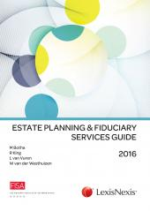 Estate Planning and Fiduciary Services Guide 2016 cover