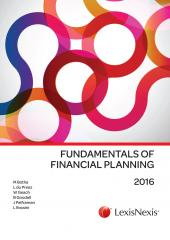 Fundamentals of Financial Planning 2016 cover