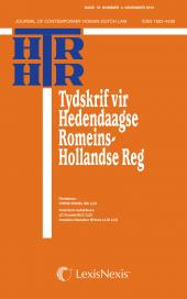Tydskrif vir Hedendaagse Romeins-Hollandse Reg / Journal of Contemporary Roman-Dutch Law cover