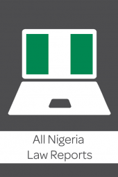 All Nigeria Law Reports cover