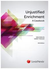 UNJUSTIFIED ENRICHMENT A CASEB cover