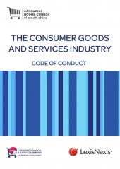 Consumer Goods and Services Code of Conduct cover