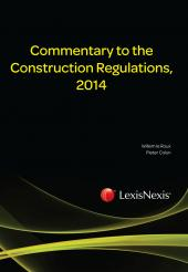 Commentary to the Construction Regulations, 2014 cover