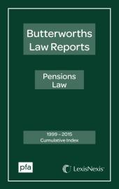 Pensions Law Reports Cumulative Index 1999-2015 cover