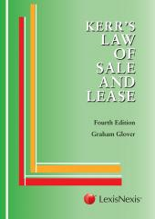 The Law of Sale and Lease cover