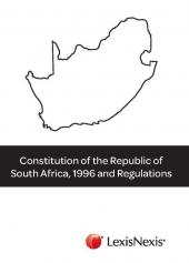 Constitution of Republic of South Africa, 1996 and Regulations cover