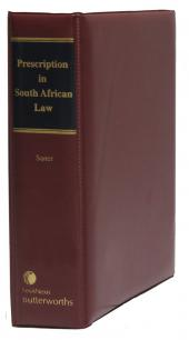 Prescription in South African Law cover