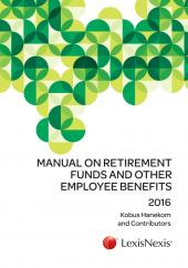 Manual on Retirement Funds and Other Employee Benefits 2016 cover