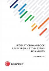 Legislation Handbook for Level 1 Regulatory Exams RE1/5 Plus 2019 Supplement cover