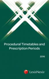 Procedural Timetables and Prescription Periods 2016 cover