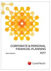 Corporate & Personal Financial Planning 2017 cover