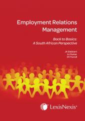 Employment Relations Management Back to Basics: A South African Perspective cover