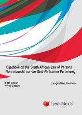 Casebook on SA Law of Persons 5th edition cover