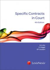 SPECIFIC CONTRACTS IN COURT 4E cover