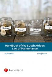 Handbook of the South African Law of Maintenance cover
