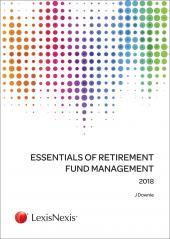 Essentials of Retirement Fund Management 2018 cover