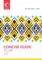 Concise Guide to VAT 2019 24th Edition cover