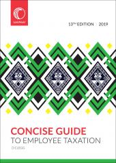 Concise Guide to Employee Taxation 2019 cover