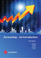 EB ACCOUNTING AN INTRO 13TH ED cover