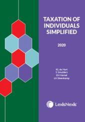 TAX OF INDIV: SIMPLIFIED 2020 cover