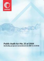 Public Audit  Act No. 25 of 2004 (Including proposed amendments by Bill No. 13 of 2018) cover