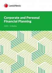 Corporate & Personal Financial Planning 2020 cover