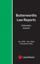 Arbitration Law Reports Annual Cumulative Index 1998 – 2018 cover