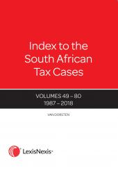 Index to South African Tax Cases cover
