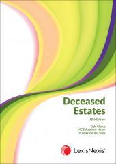 Deceased Estates 12th edition cover