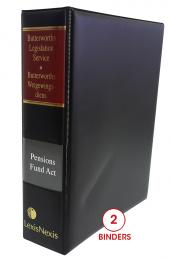 Butterworths Legislation Service, Pension Fund Act, No. 24 of 1956 cover