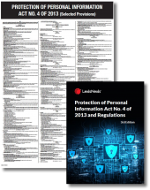 Protection of Personal Information Act No. 4 of 2013 and Regulations (Pocket book and Poster combo) cover