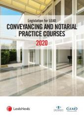 Legislation for Lead Conveyancing and Notarial Practice Courses 2020 cover